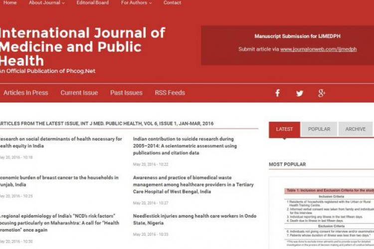 International Journal of Medicine and Public Health