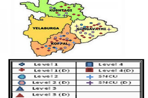 Geographical Distribution of Maternal and Child Health Care Facilities in Koppal District